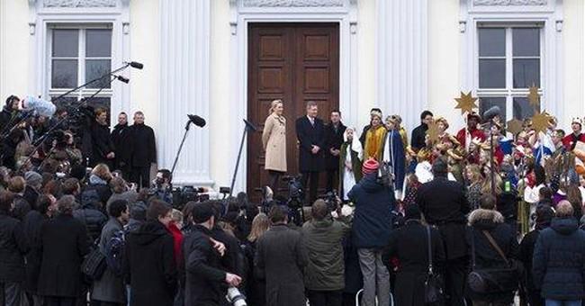 German president backed by polls, Merkel