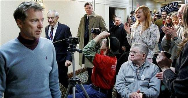Paul criticizes Santorum at first NH event