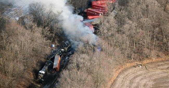 3 freight trains derail in Indiana, cars burn