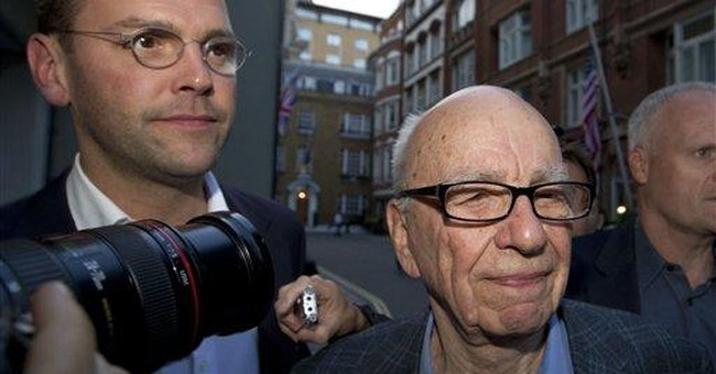 Ex-top policeman says son worked at Murdoch title