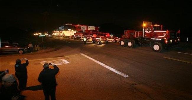 340-ton rock begins rolling to LA for art's sake
