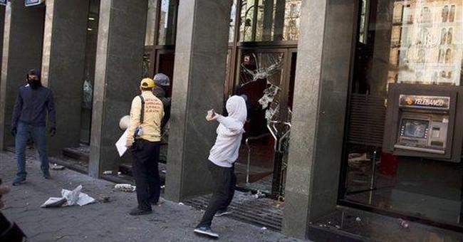 Spain student protests turn violent in Barcelona
