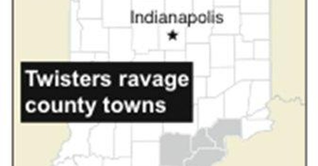 Tornadoes kill at least 14 across southern Indiana