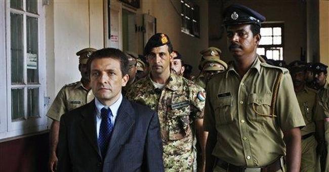 Italian marines held in Indian jail on ship firing