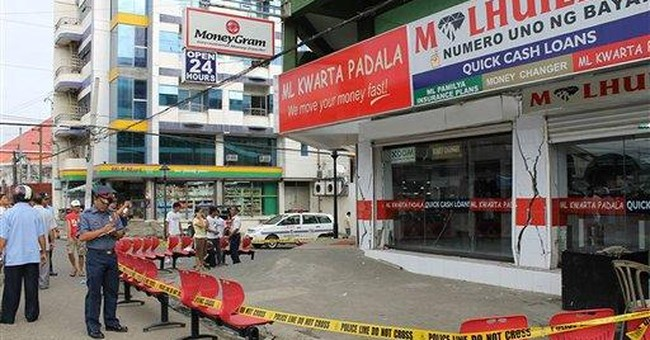 Philippine quake cracks buildings, injures 10