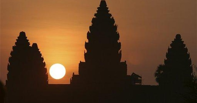 India building replica of Cambodia's Angkor Wat