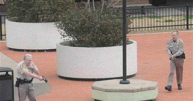 Deputy, 2 others shot outside Okla. courthouse