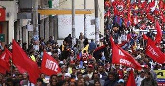Ecuador Amazon Indians in mine protest