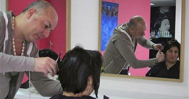 Makeovers for disenfranchised women in Paris salon