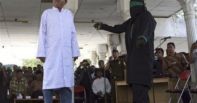 5 gamblers caned in Indonesia's Aceh province