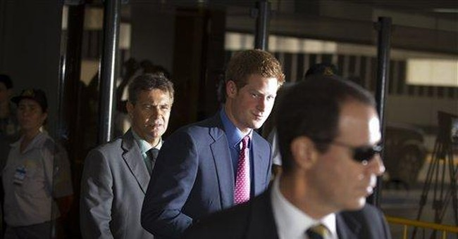 Prince Harry lands in Brazil on tropical tour
