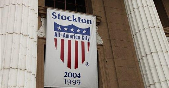 In Stockton, Calif., slow fall off financial cliff