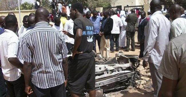 Car bomb explodes near Nigeria church; 10 killed