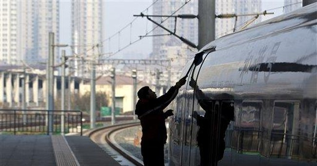Report of China rail section collapse jolts shares