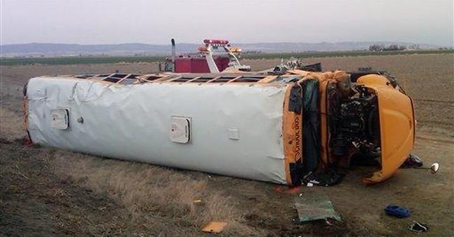 39 students injured in Wash. school bus crash