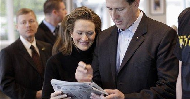 Santorum spending primary day at home with family
