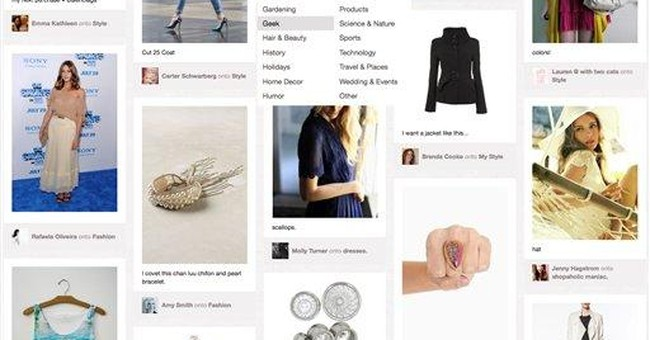 Interest spikes in Pinterest, notably from women