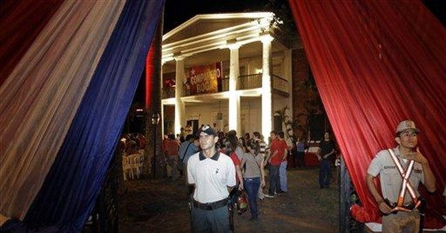 Paraguay senator uses movie mansion as campaign HQ