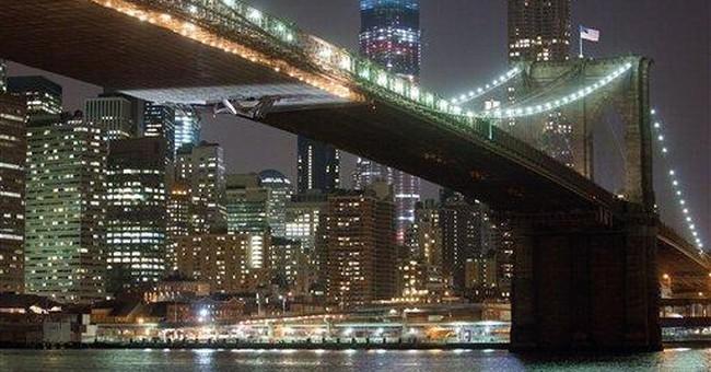 Crane on barge strikes scaffolding on NYC bridge