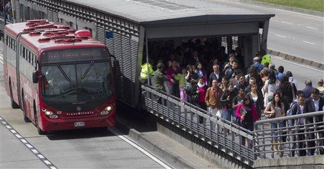 Bogota's vaunted transit system in distress