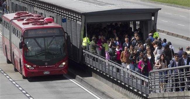 Bogota's vaunted transit system in distress