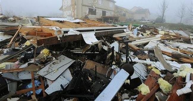 Storm warnings spare village from tornado injuries