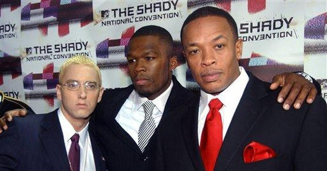 Eminem drops in on 50 Cent's 'Get Rich' SXSW show