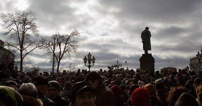 Russian police detain anti-govt protesters
