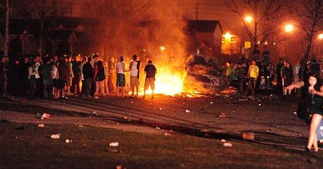 St Patrick's party mob battles police in Ontario