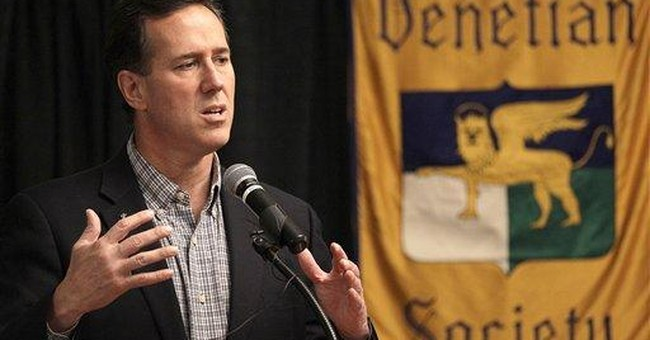 Santorum: 'Issue in this race is not the economy'