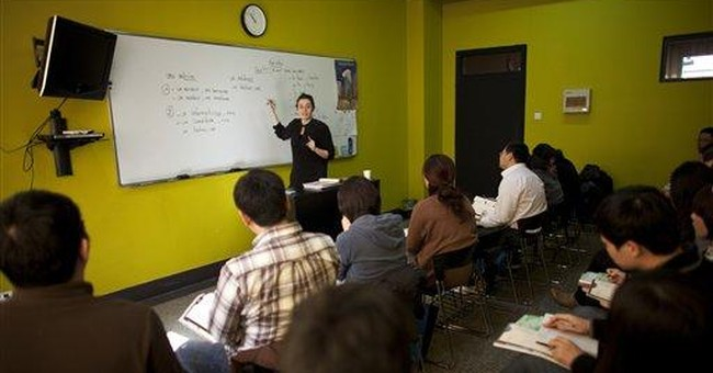 Chinese hoping ticket out of China is French class