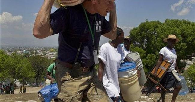 Sean Penn's Haiti work earns humanitarian prize