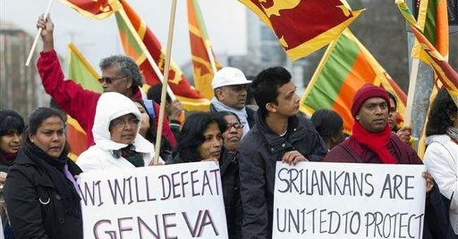 Sri Lankan clergy protest UN rights resolution