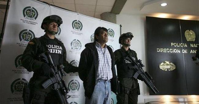 Colombia captures alleged drug go-between