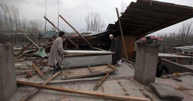 Indian Kashmir hit by deadly wind storm, avalanche
