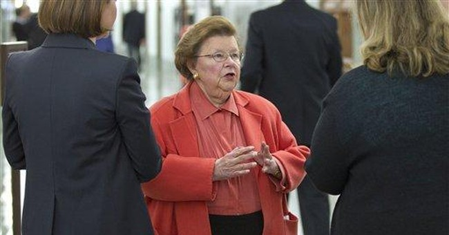 Senators hail Mikulski's milestone in Congress