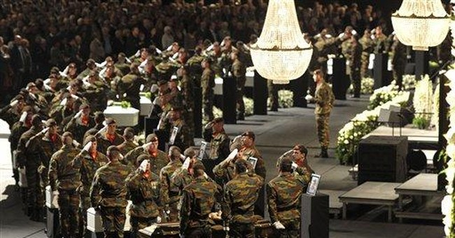 Belgium holds service for victims of bus crash