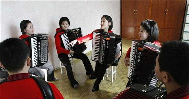 A look at NKorea accordionists behind A-ha moment