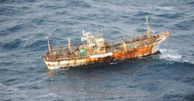 Tsunami-tossed boat spotted off western Canada