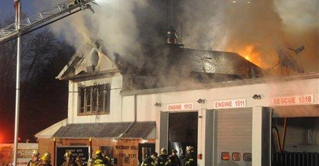 NJ firehouse catches fire; cause not yet known