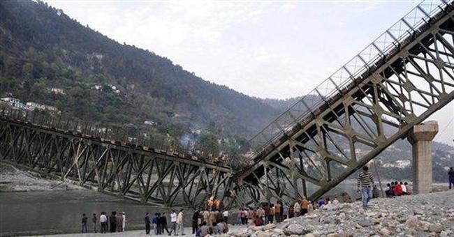 Report: 6 dead, 18 hurt in India bridge collapse