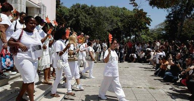 Cuba's Ladies in White protest without incident