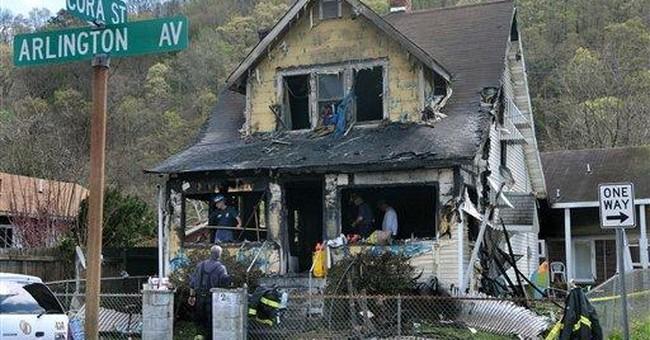 Parishioners comfort relatives of WV fire victims