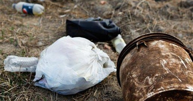 What stinks? Bizarre trash collects near oil patch