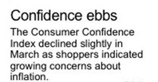 US consumers hold onto rosy outlook  in March