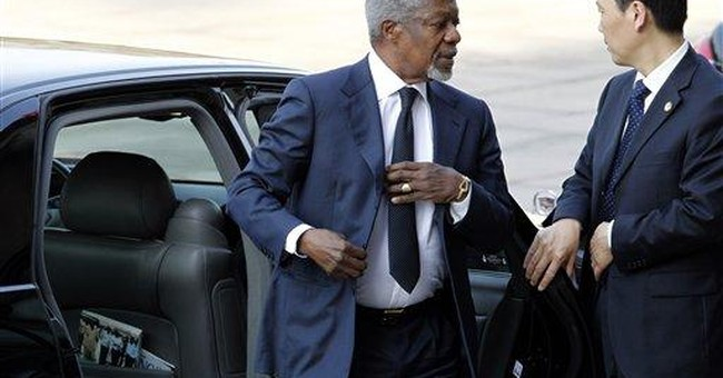 Annan: Syria acceptance of peace plan key 1st step