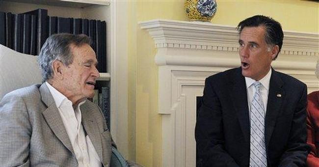 George H.W. Bush to formally back Romney