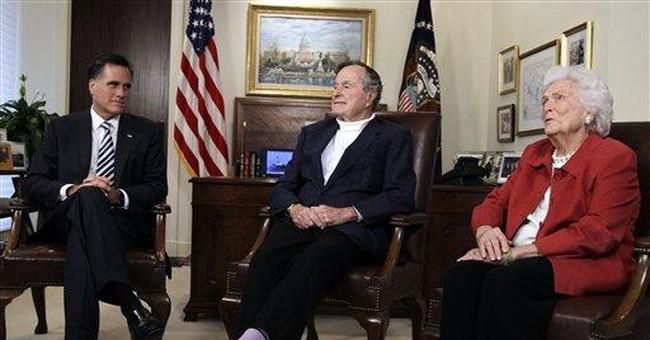 Former President GHW Bush backs Romney in GOP race