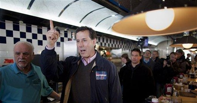 Santorum aims to be GOP race's 'true conservative'