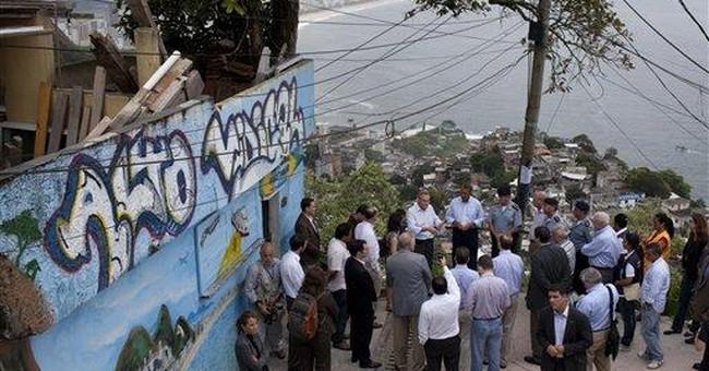 US House Speaker John Boehner visits Brazil slum